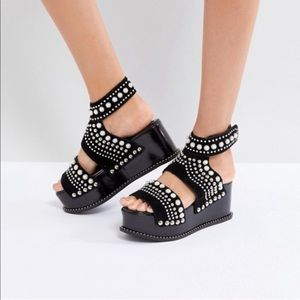 NEW • Jeffrey Campbell • Palmira Studded Sandals 7